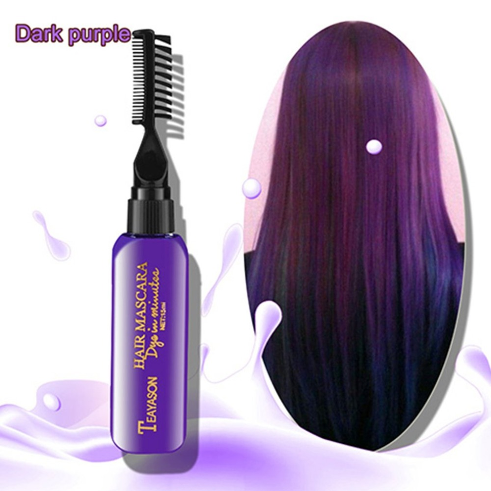 Brand DIY New Hair Dye Color Does Not Pain Hair Easy To Clean Non-toxic One-time Temporary Mascara Hair Cream 13 Colors image