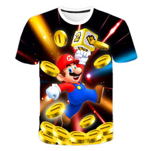 Boys T Shirt T Kid Girls Tops Cute Mario Tshirt Cool Sonic T-shirt Children Clothes 2020 Summer Short Kids Clothing Girls Shirts children s clothes plants vs zombies wars t shirt boys t shirt kids cartoon tshirt baby girls boys clothing summer cool tops tee