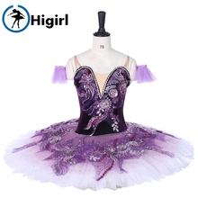 Purple Ballet Tutu Women Flower Fairy Princess costumes Ballerina Pancake platter tutus professional ballet dress BT9333
