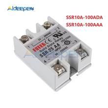 SSR – relais monophasé à coque blanche, à semi-conducteurs, courant continu 24-380V, 10DA, 25DA, 40DA, 40DA