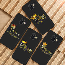 Golden king rainha caixa do telefone para Samsung Galaxy A3 A5 A6 A7 A8 A9 A10 A20E A30 A40 A50 A70 A51 A71 A90 J3 J4 J5 J6 J7 J8 Plus(China)