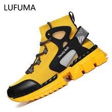 2020 bahar çorap ayakkabı nefes erkekler tıknaz Sneakers moda yüksekliği artan erkek rahat ayakkabılar Zapatos Hombre artı boyutu 39 ~ 46