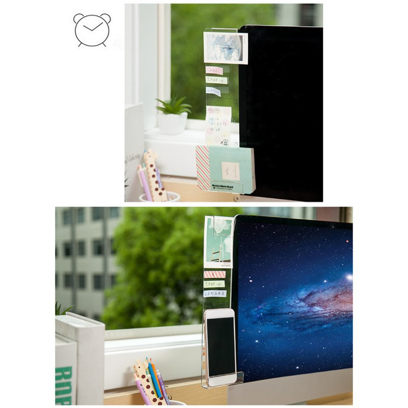 New Computer Monitors Side Panel Computer Screen Acrylic Message Board With The Charging Hole Phone Holder 2 Styles