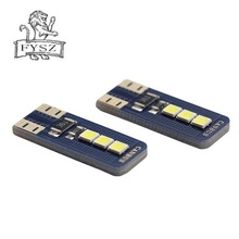 2 adet yeni T10 W5W LED 2825 yüksek kaliteli arabalar ampuller süper parlak araba okuma kubbe ışıkları otomatik işaret lambaları kama kuyruk yan ampuller