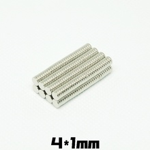 20~200PCS 4x1 Small Round Magnet 4mm*1mm Neodymium Powerful Magnetic 4x1mm Permanent NdFeB Strong Magnet 4*1 mini Disc magnet