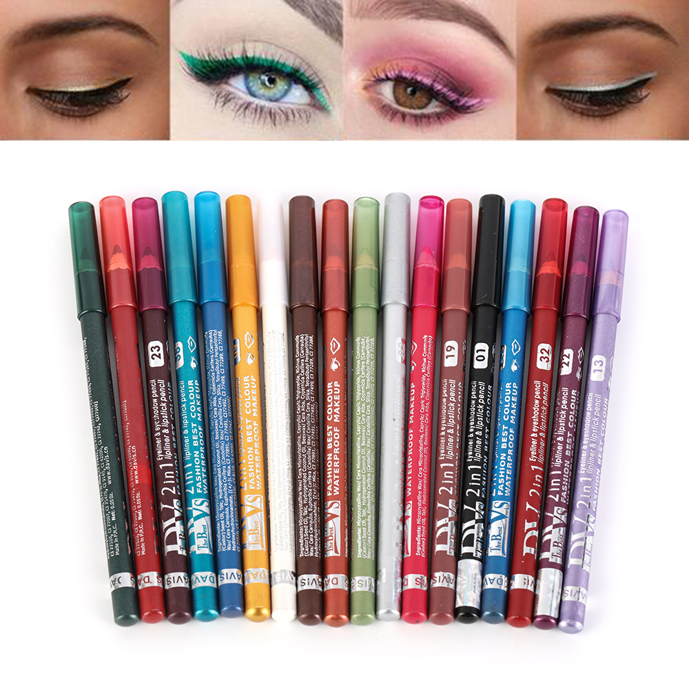 18 Colors Long-lasting Eye Liner Pencil Pigment White Color Waterproof Eyeliner Pen Eye Cosmetics Makeup Tool Eye Shadow Pen