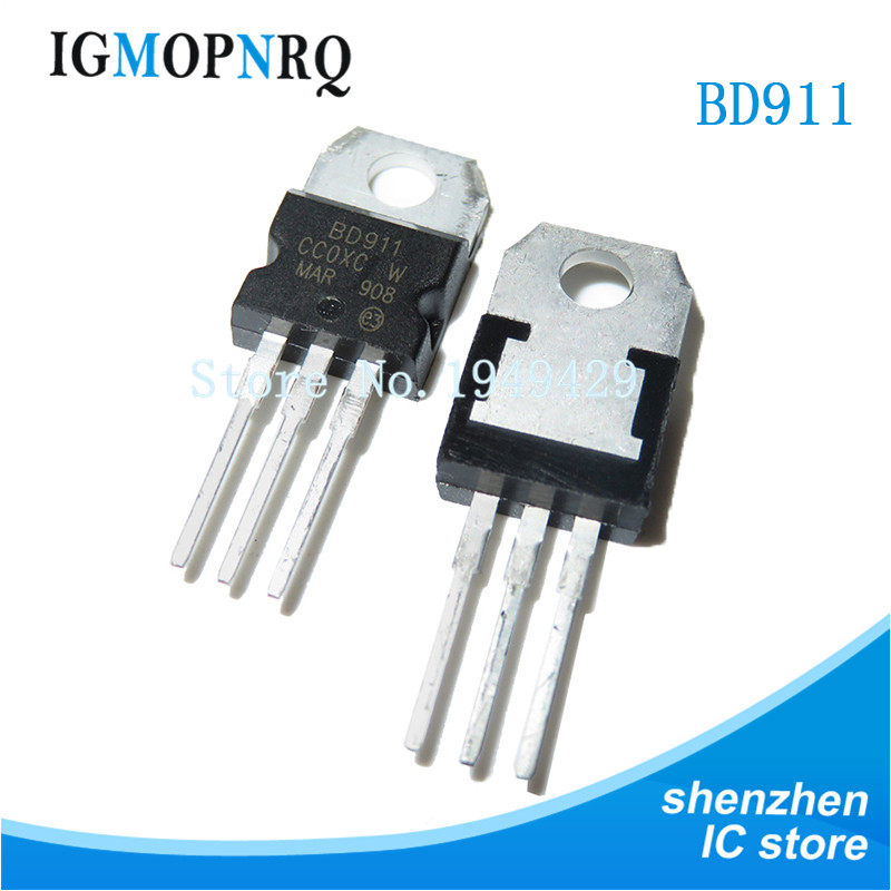 10PCS BD911 TO-200 BD911 TO220 100V 15A New Original