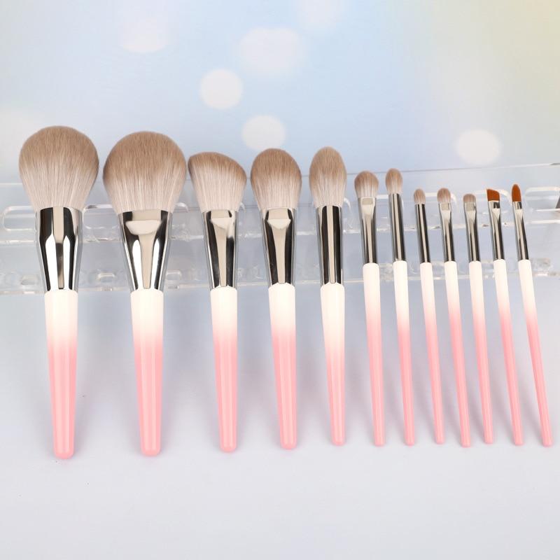 13 pcs moda conjunto de escova de maquiagem fundacao blush sombra de olho escova super macio
