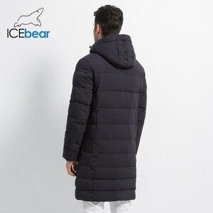 Image 4 - ICEbear 2019 новая зимняя куртка ветрозащитная мужская хлопковая модная мужская парка повседневные мужские пальто Высокое качество Мужское пальто MWD18826I