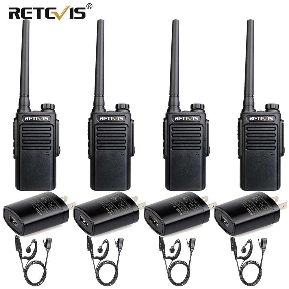 RETEVIS RT647/RT47 IP67 Waterproof Walkie Talkie 4pcs PMR Radio PMR446 VOX Two Way Radio Comunicador Transceiver With Earpiece