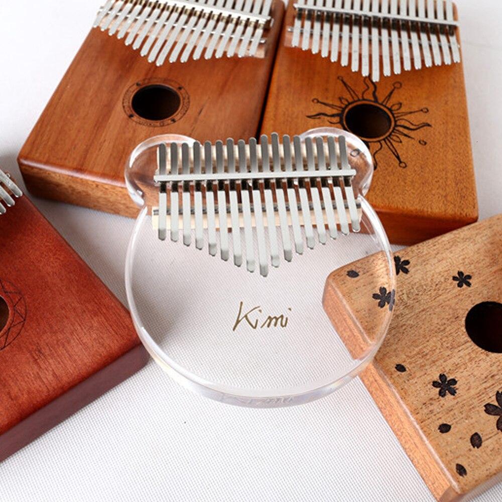 17 key crystal Kalimba Afrikaanse duim transparant vinger piano acryl Kalimba draagbare muziekinstrument - 4