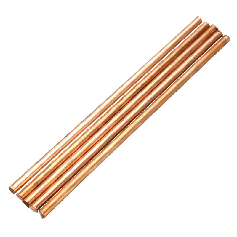 5Pcs 3mm Diameter Solid Round Red Copper Bar 100mm Length Metal Electrode Brazing Rod Welding Soldering Supply