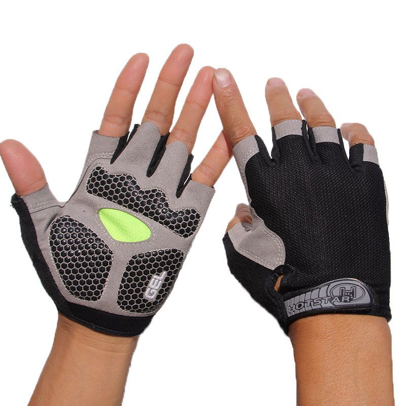 Unisex <font><b>Sport</b></font> 3D GEL Gepolsterte Anti-Slip Handschuhe Für <font><b>Gym</b></font> Fitness Gewicht Lifting Body Building Übung Training Workout image