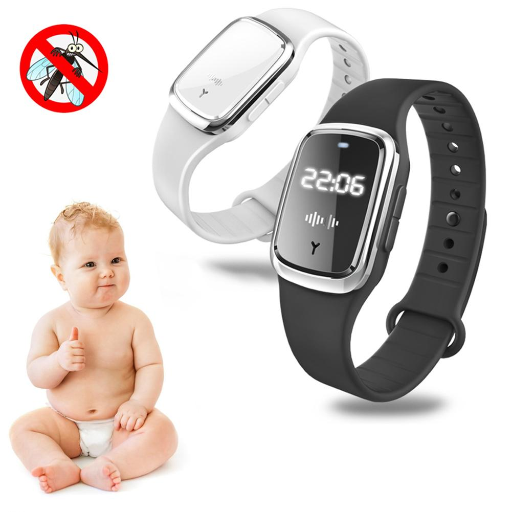 Anti Mosquito Insect Digital Watch Kids Adult Ultrasonic Bug Repellent Wristband 1