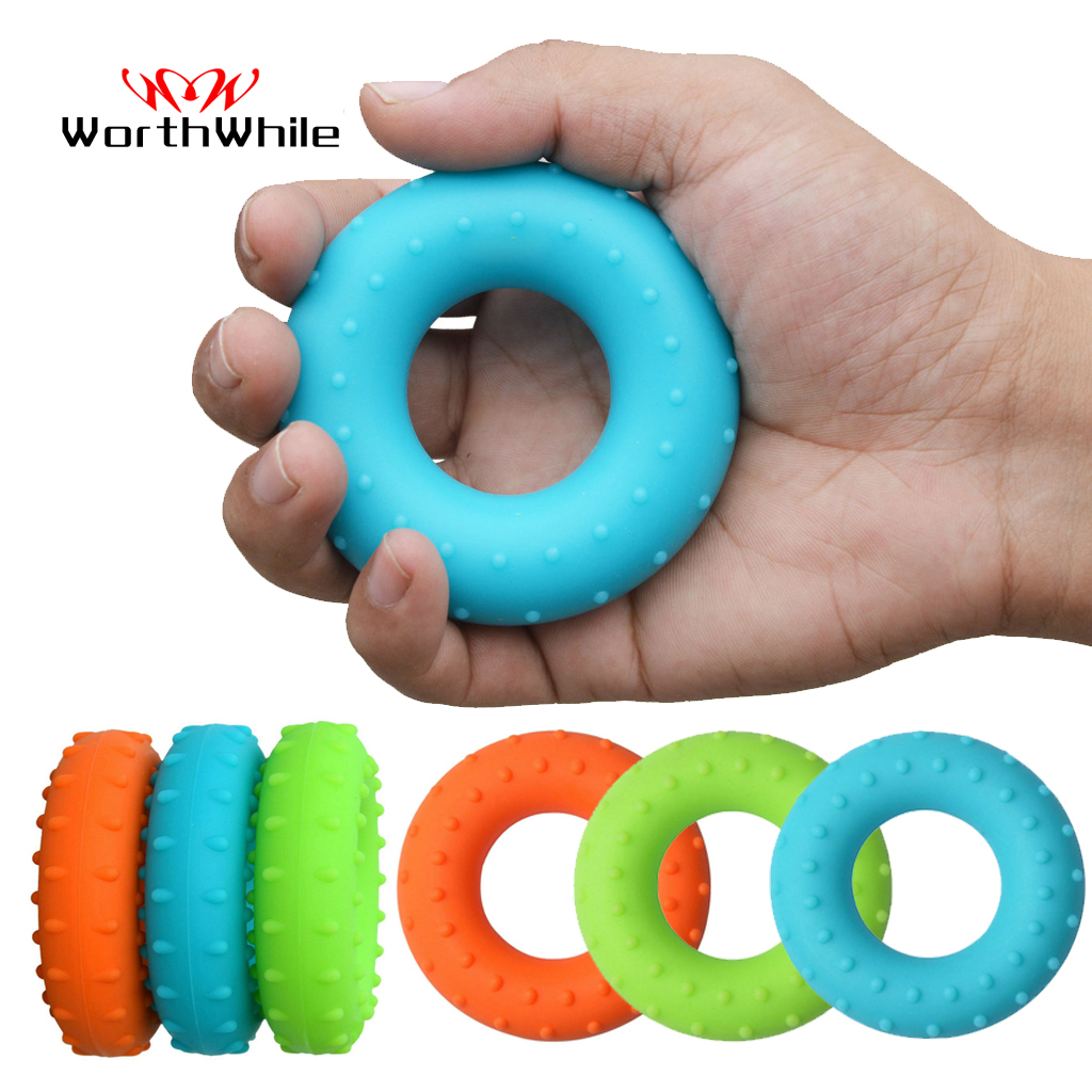 WorthWhile 40LBS Silica Gel Hand Grip Ring Massage Gym Fitness Finger Heavy Exerciser Strength Muscle Recovery Gripper Trainer