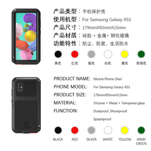 Image 2 - For Samsung Galaxy A51 Case LOVE MEI Shock Dirt Proof Water Resistant Metal Armor Cover Phone Case for Samsung A9611