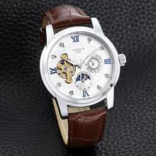 цена на Men's fashionable youth.  Fully automatic tourbillon mechanical watch sun moon star high quality aaa watch.