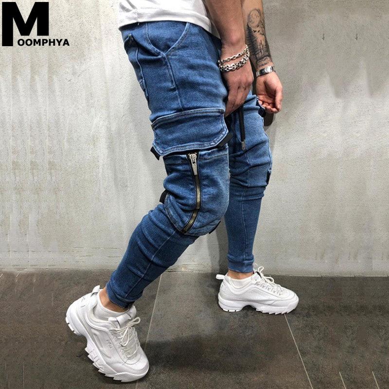 Moomphya Pantalones Vaqueros Con Bolsillos Laterales Pantalones Vaqueros Ajustados Para Hombres Pantalones Vaqueros Para Hombres 2019 Pantalones Vaqueros Negros De Hip Hop Para Hombres Pantalones Vaqueros Aliexpress