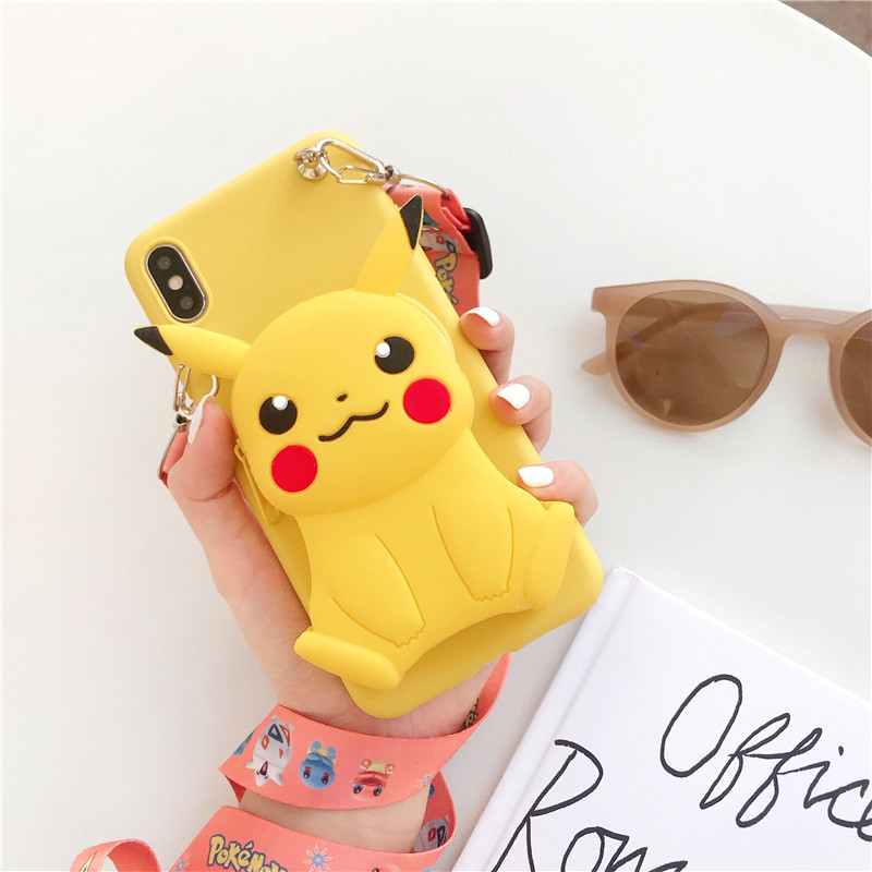 3D Elf ball bear Cartoon Zipper Wallet soft Phone cover for iphone X XR XS 11 pro MAX 7 8 6S plus for samsung S9 S10 Note case 2