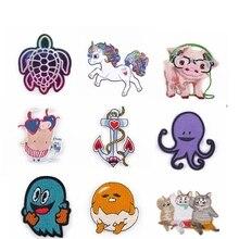 Animal-Logo-Patch Turtle Badges Clothing Embroidered Patches Unicorn Snake Stripes Iron-On