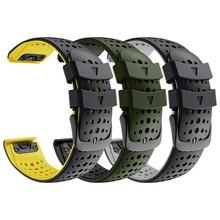 Fenix 6 Silicone Sport Wrist band QuickFit 22mm  Watch Strap for Garmin Fenix 6 / Fenix 5 / Instinct