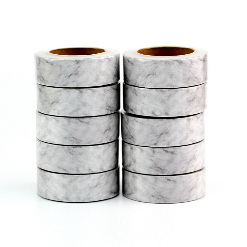 Wholesale 10PCS/lot Cute White Marble Washi Tapes For Planner Bullet Journal Stickers Adhesive Masking Tapes Stationery