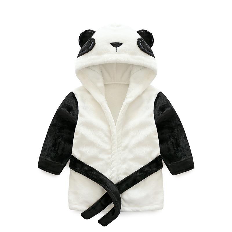 Flannel Bathrobe New Style Cute Panda Warm Women's Robes Children Animal Bathrobe Children Tracksuit