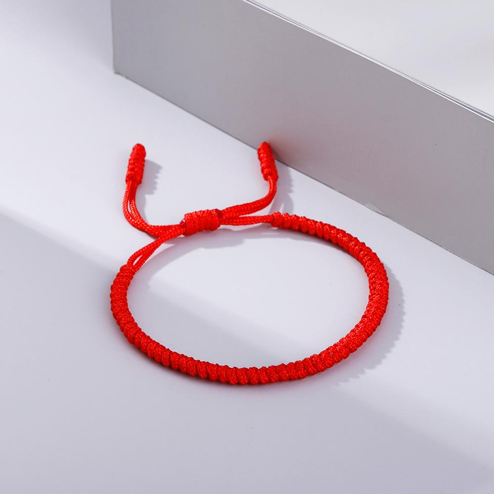 Hot Tibetan Buddhist Braided Bracelet Thread Knots Woven Red Rope Lucky Lover Men Women Bracelets Bangles Prayer Charm Jewelry