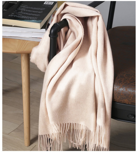 Solidlove 100% Wool Winter Scarf Women Scarves Adult Solid  Luxury Autumn Fashion Designer Scarf  Poncho Scarfs for Ladies Wrap 5