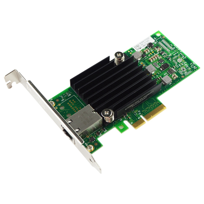 HOT-10Gb PCI-E NIC Network Card, For X550-T1 With Intel ELX550AT Chip, Single RJ45 Port, PCI Express Ethernet LAN Adapter Suppor