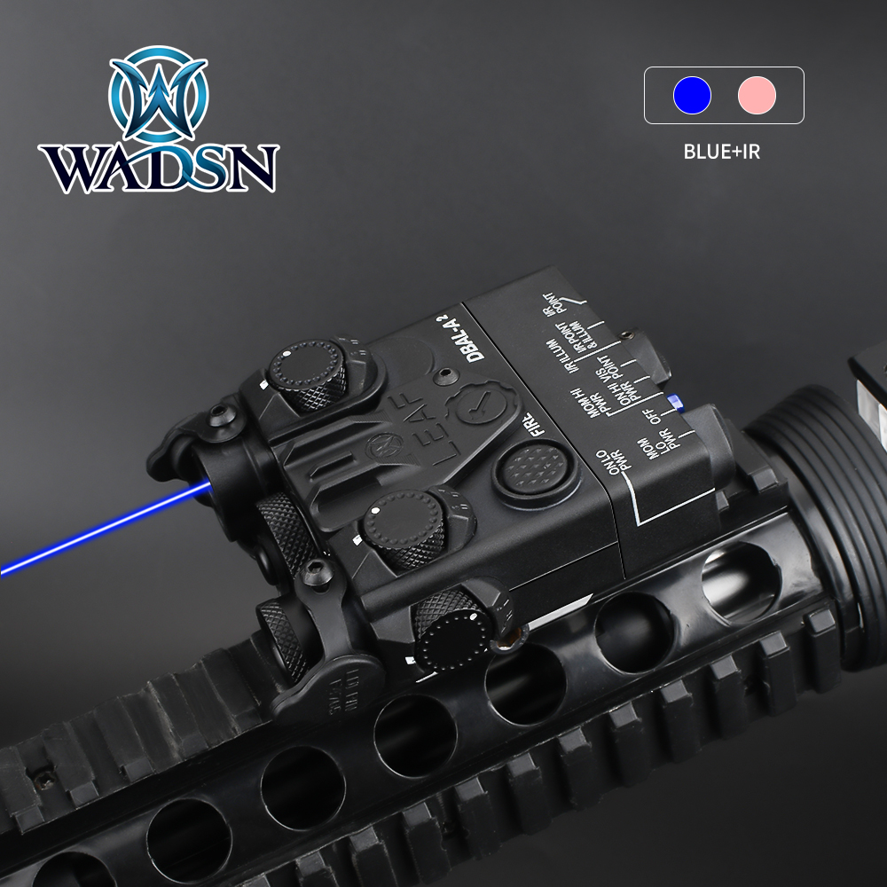 WADSN Airsoft Mini DBAL-A2 Green Blue Dot IR Laser Aiming Hunting DBAL-A2 Weapon Light PEQ Laser Sight Fit 20mm Picatinny