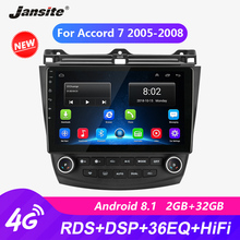 Jansite RDS 10 4G Wifi Car Radio For Honda Accord 7 2005-2008 autoradio Android Touch screen GPS Mirror-link Multimedia Players