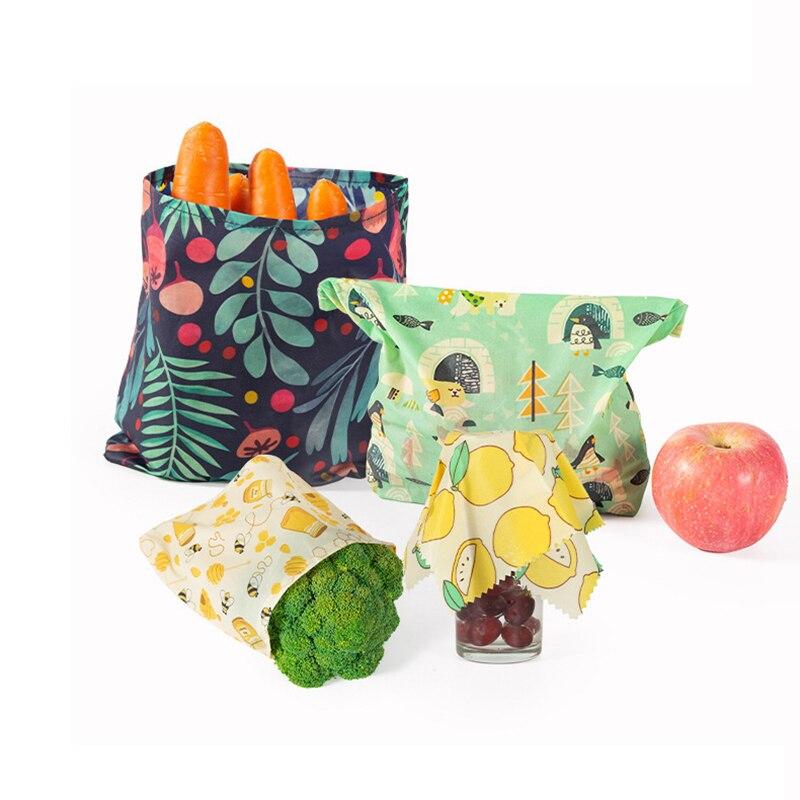 3.69US $ 35% OFF Reusable Beeswax Preservation Bag Organic Beeswax Cotton Food Fresh Bag BPA & Plast...