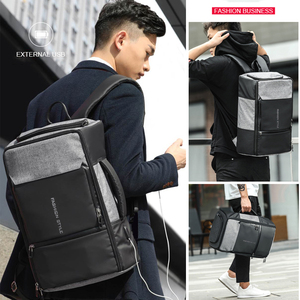 Image 5 - 17 inch Laptop Backpack Anti Theft Bag Male Men Bagpack USB 15.6 Notebook Travel Business Backpacks Man Waterproof Outdoor Bags