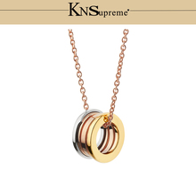 KN Bulgaria necklace 1:1 Original Three color 925 Sterling Silver Women rose gold Jewelry High-end Quality Gift Have logo