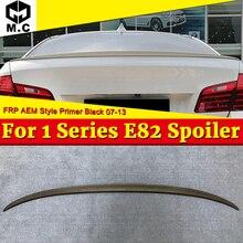 For BMW E82 sedan duckbill Spoiler FRP Unpainted M style 1 series 118i 120i 125i 128i 130i 135i wing rear spoiler look 07-13