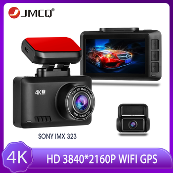 JMCQ W07 4K Dash Cam Gesture Photo WiFi Car Camera Dashcam 3840*2160P 30FPS Ultra HD WiFi DVR Video Recorder GPS Tracker Dashcam image