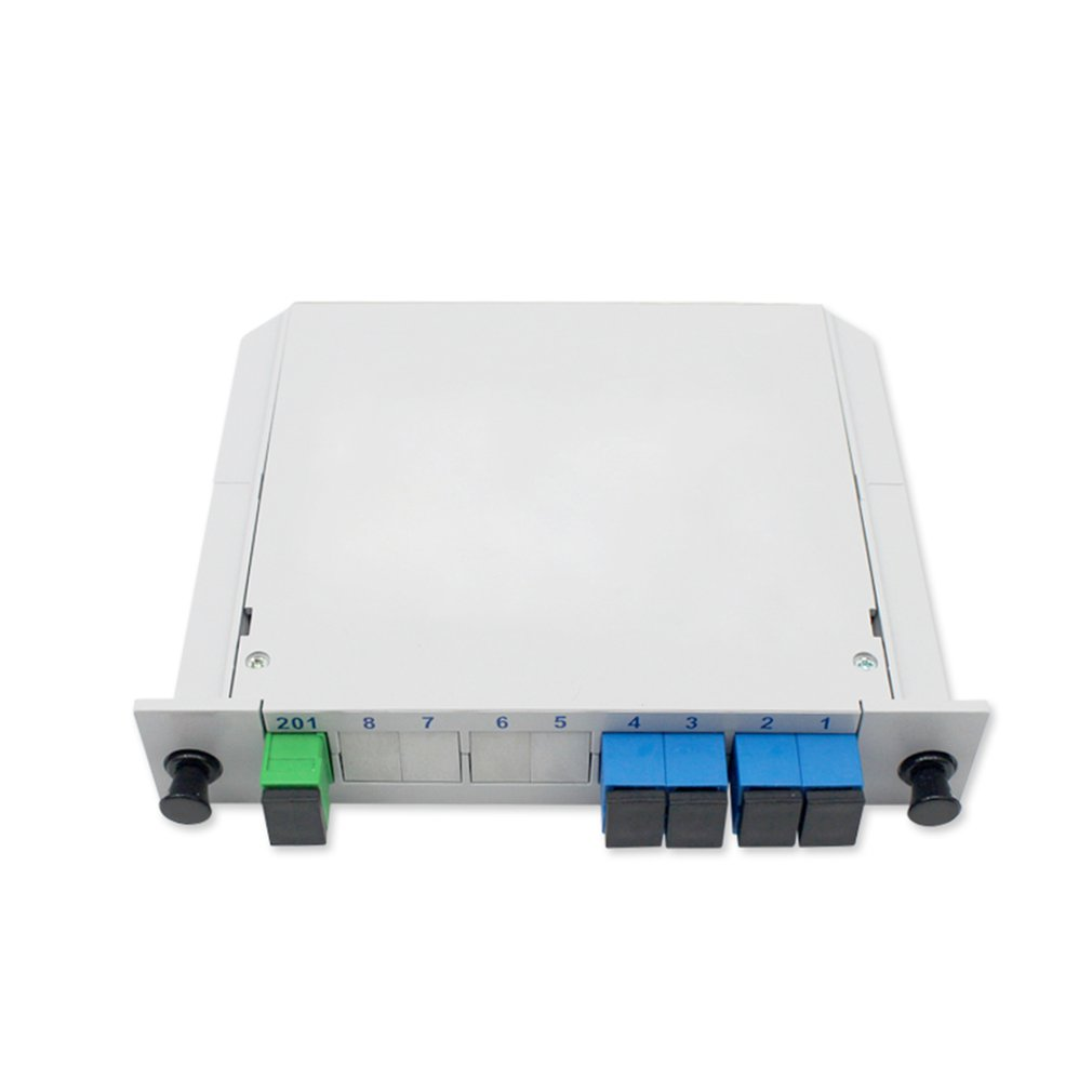 1 Minute 4 Insert Type Plc Optical Splitter Quarter Light Sc Port 1 To 4 Fiber Splitter Carrier Grade