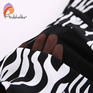 Image 5 - Andzhelika 2020 Sexy Zwart Wit Luipaard Print Badmode Een Stuk Badpak Push Up Gewatteerde Mesh Hoge Taille Badmode Bodysuit