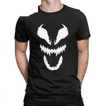 Vintage Spider Man Classics cara de Venom polar manta camisetas hombres cuello redondo algodón camiseta ropa de verano