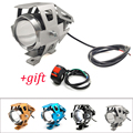 Pour Yamaha SEROW 225 250 TTR125 TTR250 ttr 125 250 600 Moto lumière led phare lampe auxiliaire U5 projecteur Moto lumière