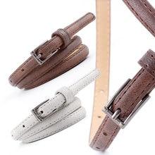 105X1.1Cm New Summer Female Square Buckle Belt For Women Jeans High Waist Dress Fine Pin Feminine Cinturon