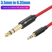 Аудиоадаптер 35 мм 635 aux кабель для миксера гитарного усилителя