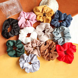 1 PC Elastic Hair Bands For Women Solid Color Silk Women Scrunchie For Girls Hair Band Elegant Hair Accessories Hot Scrunchy