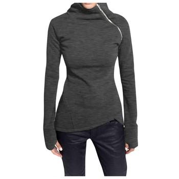 2020 nowa bluza z kapturem w stylu harajuku dla dziewczynek jednokolorowa bluza z kapturem jednokolorowa bluza z długim rękawem bluza z golfem bluza z zamkiem Top tanie i dobre opinie Poliester CN (pochodzenie) Wiosna jesień Krótki Osób w wieku 18-35 lat Pełna REGULAR Na co dzień Suknem Stałe Blouse Shirts