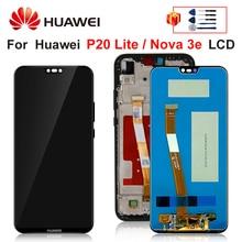 "5.84 ""huawei社P20 lite液晶表示画面huawei社P20 lite画面ANE LX1 ANE LX3 ディスプレイノヴァ 3e液晶組立部品"