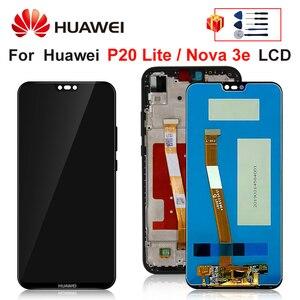 "Image 1 - Tela de 5.84 ""para huawei p20 lite, display lcd para huawei p20 lite tela ANE LX1 ANE LX3 nova 3e lcd peças de montagem"