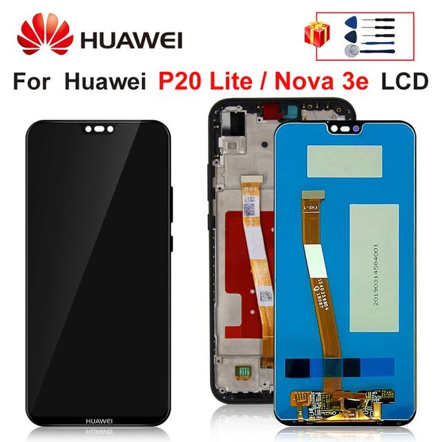 "Tela de 5.84 ""para huawei p20 lite, display lcd para huawei p20 lite tela ANE LX1 ANE LX3 nova 3e lcd peças de montagem"