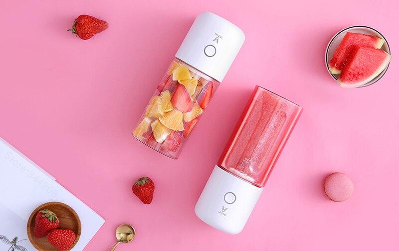 XIAOMI VIOMI Blender Handheld Portable Juicer For Electric Kitchen Mixer Fruit Cup Food Processor 45 seconds quick Juicing 9