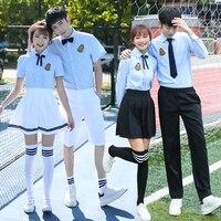 Graduation class service summer shirt school uniform Set small junior high school student college wind British style campus